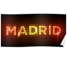 Madrid in Lights Poster