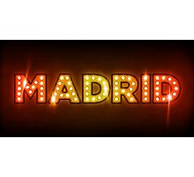 Madrid in Lights Photographic Print