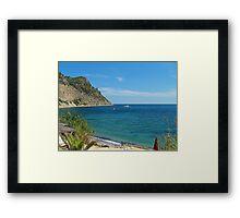 Ibiza Blue Framed Print