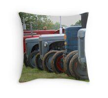Georgina the tractor Throw Pillow