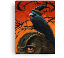The Owl & the Crow Canvas Print