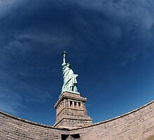 Statue of LIberty Fisheye by Chelsea Grainger