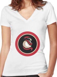 arizona diamond backs logo 1 Women's Fitted V-Neck T-Shirt