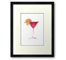 Cosmopolitan Watercolour Cocktail Framed Print
