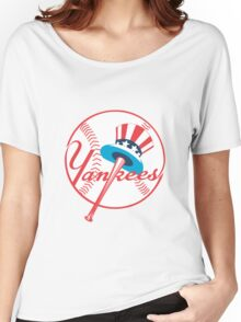 new york yankees logo Women's Relaxed Fit T-Shirt