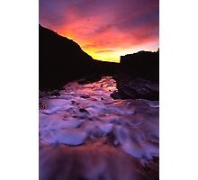 sunrise streaming Photographic Print