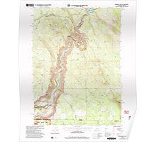 USGS Topo Map Oregon Chicken Hills 279330 2001 24000 Poster