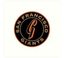 san francisco giants logo 1 Art Print