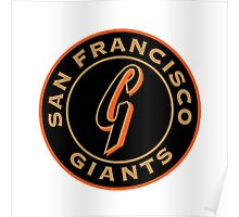 san francisco giants logo 1 Poster