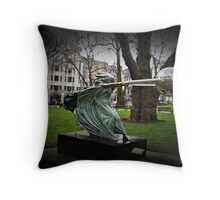 the force of nature head on Throw Pillow