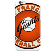 san francisco giants logo 2 iPhone Case/Skin