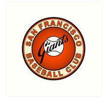 san francisco giants logo 2 Art Print