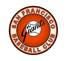 san francisco giants logo 2 Photographic Print