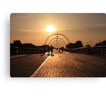 On the Pier - 1 Canvas Print
