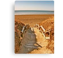 Mavillette Beach - The Brown Season II Canvas Print