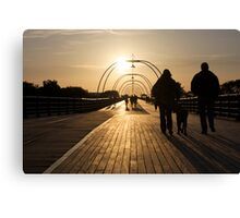 On the Pier - 2 Canvas Print