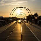 On the Pier - Evening Shadow by Paul Turri