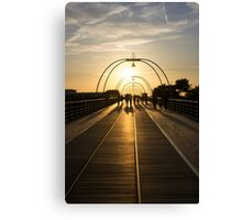 On the Pier - Evening Shadow Canvas Print