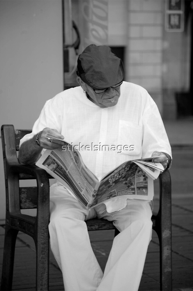 peoplescapes #263, morning paper by stickelsimages