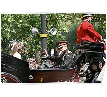 Prince Harry in a Horse drawn carriage Poster