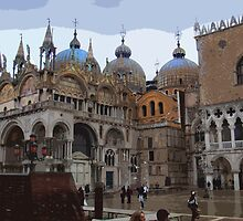 San Marco and the Doge's Palace - Venice by Al Bourassa