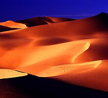 Calif. dunes at sunrise by ©  Paul W. Faust