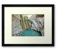Ronies waterfalls, Lefkada, Greece Framed Print