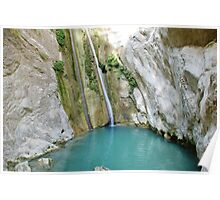 Ronies waterfalls, Lefkada, Greece Poster