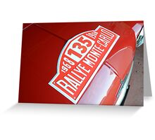 Rallye Monte Carlo Greeting Card