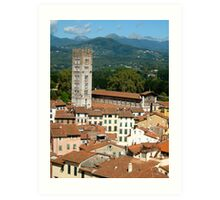 Tuscan Rooftops - Lucca, Toscana Art Print