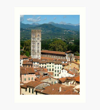 Tuscan Rooftops - Lucca, Toscana Art Print