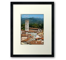 Tuscan Rooftops - Lucca, Toscana Framed Print