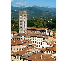 Tuscan Rooftops - Lucca, Toscana Photographic Print