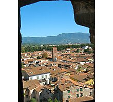 Tuscan Rooftops - Lucca, Toscana v.2 Photographic Print