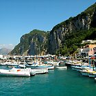 Boats In Sunlight - Harbour, Capri by Lorna81