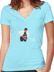 soviet photo Women's Fitted V-Neck T-Shirt