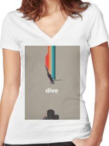 Dive Into My Soul Women's Fitted V-Neck T-Shirt