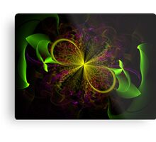 Ribbon Bloom Metal Print