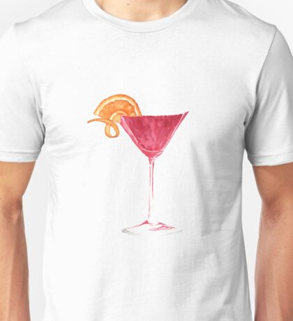 Cosmopolitan Watercolour Cocktail Unisex T-Shirt