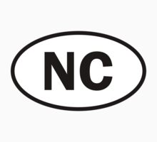 North Carolina - NC - oval sticker and more by welikestuff