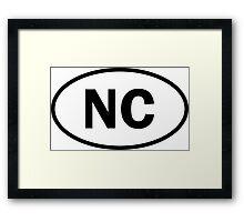 North Carolina - NC - oval sticker and more Framed Print