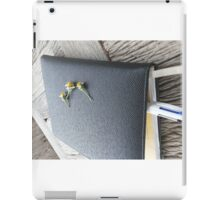 Flower On Black Book iPad Case/Skin