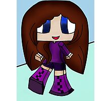 Cute Gamer Big Boots Girl Photographic Print