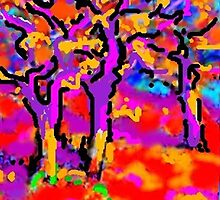 Three Elm Trees by Richard  Tuvey