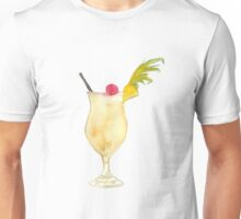 Pina Colada Watercolour Cocktail Unisex T-Shirt
