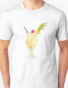 Pina Colada Watercolour Cocktail T-Shirt