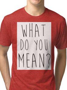 Justin Bieber What Do You Mean Tri-blend T-Shirt
