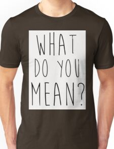 Justin Bieber What Do You Mean Unisex T-Shirt