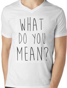 Justin Bieber What Do You Mean Mens V-Neck T-Shirt