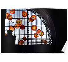 Stain Glass Flower Figurines in Old Union Station Poster
